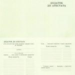 -Приложение к аттестату школы на бланке 1993-1999 г.г. 0