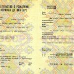-Купить свидетельство о рождении СССР Молдавии 1990-1993 г.г. 0